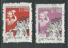 VIET NAM # 1596-1597 Used 1ST NATIONAL ELECTIONS, 40TH ANNIVERSARY