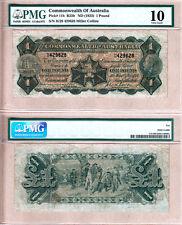 1923 One Pound KGV Commonwealth of Australia. PMG Cert VG10. Renniks R23b
