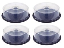 4 x 25 cakebox storage capacity CD DVD Bluray empty Spindle Tub Cake Box Case