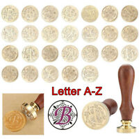 Letter A-Z 26 Retro Copper Head Seal Classic Initial Wax Sealing Stamp Alphabet