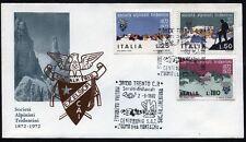 1972 - 100° Ann. Società Alpinisti Tridentini  - n.1179/1181 -  Busta  FDC