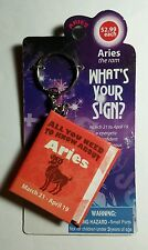 ARIES THE RAM WHAT'S YOUR SIGN ASTROLOGY BIRTHDAY KEYCHAIN KEY CHAIN BOOK AS-IS