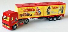 Majorette Renault PINDER CAR DELUXE CIRCUS Trailer Truck #2Model Yellow Red 1/60