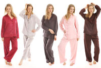 LADIES SATIN PYJAMA WOMENS 2 PIECE PJ'S SET TOP & BOTTOM  LOUNGEWEAR NIGHWEAR