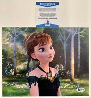 Kristen Bell Autographed Walt Disney Frozen Anna 8x10 Photo Signed Beckett COA