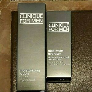 Clinique FOR MEN MAXIMUM HYDRATOR WATER-GEL CONCENTRATE + LOTION (MINIS) NIB