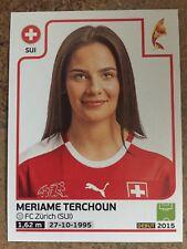 Womens Euro 2017 panini sticker - 249 Meriame Terchoun (Switzerland)