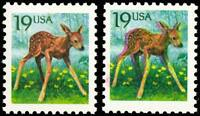 2479, 19¢ Fawn - Nice Large Color Shift ERROR - Mint NH With Normal Stuart Katz
