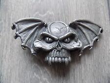 VINTAGE THE BULLDOG BUCKLE CO SILVER METAL VAMPIRE BAT BUCKLE