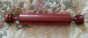 TOM FOSTER SIGNED MULTICOLOR WOOD ROLLING PIN HAND MADE
