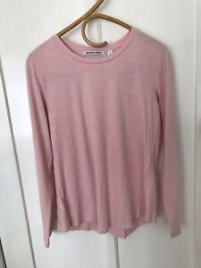 Country Road Pink Organic Cotton Long Sleeve Top Size Small