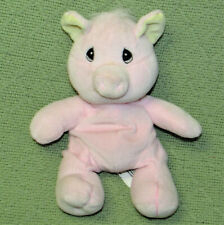 VINTAGE PRECIOUS MOMENTS PINK PIG Tender Tails Bean Bag Plush 1997 Toy Animal