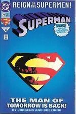 Superman Comic Book 2nd Series #78 Die-Cut Cover DC Comics 1993 VERY FINE
