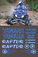 Raptor Yamaha Blue Plasma Flame Airbrush 16pc Quad Decal Stickers 660R, 350, 700