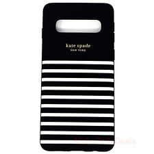 Samsung Galaxy S10 Kate Spade Protective Case Soft Touch Hardshell Stripe Black