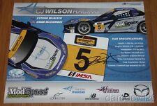 2014 CJ Wilson signed CJ Wilson Racing #5 Mazda MX-5 Miata IMSA CTSC postcard