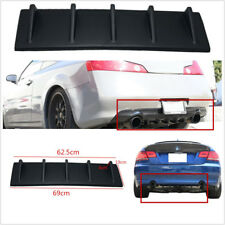 Matte Black ABS Autos Vehicle Rear Decor Curved Addon Bumper Lip Diffuser 5 Fin
