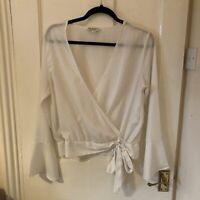 white chiffon blouse