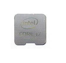 Intel Core i7 all'interno di argento 18 mm x 18 mm adesivi metallici 7 VINYL 10 8 Windows