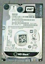 """10 Pc. LOT - WD 500GB 2.5"""" HDD 7.2K RPM LAPTOP SATA Model: WD5000LPLX-66ZNTT1"""