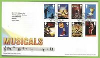 G.B. 2011 Musicals set on Royal Mail First Day Cover, Tallents House