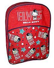 Niños Chicos Chicas Personaje Mochila Bolso Escolar (Hello Kitty Elvis)