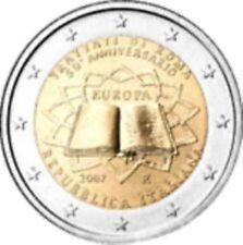 Italië  2007    2 euro commemo   Verdrag van Rome     UNC uit de rol !!!