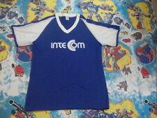 Vintage 80's Inte Com  v neck mesh sleeve style Dodger Baseball Jersey Men's L