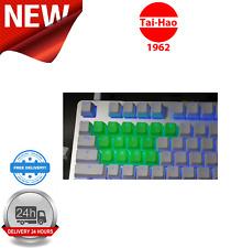 Tai-Hao TPR Rubber Backlit Double Shot 18 Keys Neon Green KEY0083