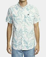 RVCA Mens Casual Shirt Pink Size Medium M Tropical Palms Button Down $58- #427