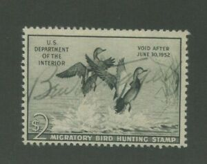 1951 US Federal Hunting Permit Duck Stamp #RW51 Used Fine Pen Cancel