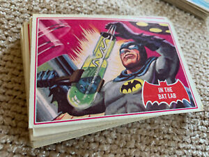 Vintage Topps Batman 1966 trading card complete RED BAT (A) set 44/44 G-VG+ BIN