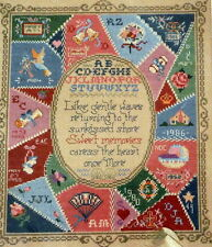 Vintage Victorian Crazy Quilt Sampler Personalized Counted Cross Stitch Kit