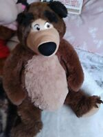 Grizzly bear soft toy