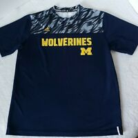Michigan Wolverines Adidas Athletic T-shirt Men Size L Short Sleeves