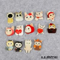 Cute Cat Lady Kitty Acrylic Badges For Clothing Backpack Plastic Tiny Animals