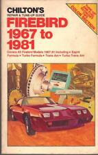 PONTIAC FIREBIRD,TRANS AM,FORMULA,ESPRIT,TURBO V8 WORKSHOP MANUAL 1967-1981