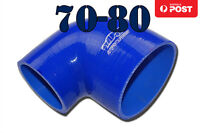 "4 Ply Silicone Turbo Pipe BOV 90 Degree Intake Elbow Hose 70mm-80mm 2.75""-3.15"""