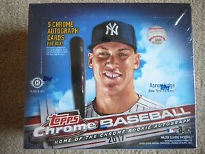 2017 Topps Chrome Baseball MLB JUMBO Hobby Box Factory Sealed Bellinger Judge