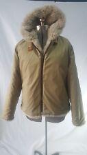 Woolrich Reversible Full Faux Fur Jacket Women's Sz L Camel NOS Winter Coat Vtg