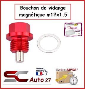 bouchon de vidange magnétique  rouge auto/moto  M12x1.5