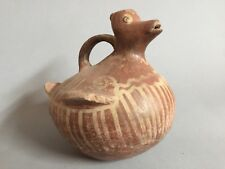 Ancient Colima Pottery Duck Vessel, 100-200 Bc