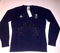 Womens Jumper Sweater Blue Adidas Team GB RIO 2016 Olympic Lady Size XS S M L XL