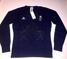 Adidas Team GB Sweater Blue Women Rio Olympic Athlete Golf Jumper XS S M L XL