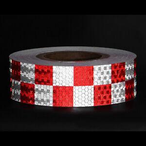3m Warnband Industrie Warnmarkierung reflektierend weiß/rot selbstklebend kfz