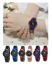 Starry Watch Magnet Strap Free Buckle Stainless Steel For Women Lady Gift