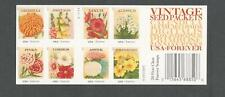 4763b VINTAGE SEED PACKETS Convertible Booklet 4755-4758, 4760-4763 Mint NH