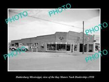 OLD POSTCARD SIZE PHOTO OF HATTIESBURG MISSISSIPPI NASH CAR DEALERSHIP c1950