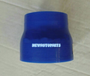 """New 2.5""""-3""""/63-76mm Siliocne Hose Straight Reducer Joint intercooler pipe Blue"""