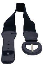 Women Fashion Belt Hip Waist Midnight Navy Blue Elastic Buckle Plus Size M L XL